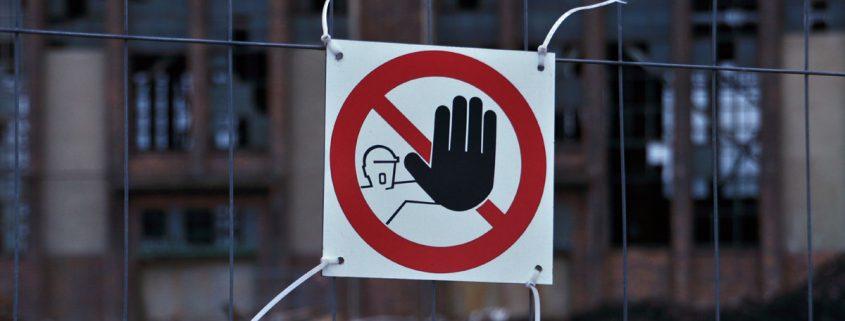 Foto: Zutritt verboten – Gebäudeabriss